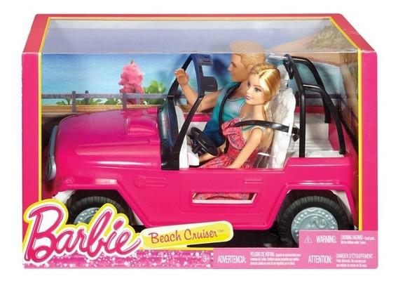 Barbie E Boneco Ken Com Automóvel - Veículo De Praia Cjd12