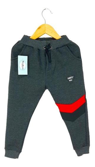 Pantalón Babucha De Algodón Doble Friza Combinado Para Niño