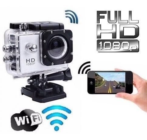 Camera Esporte Wi-fi Filmadora Fullhd Visor Case Prova Dagua