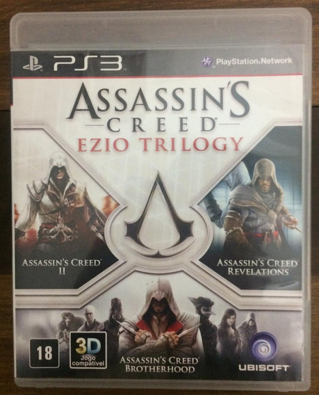 Jogo Game Ps3 Assassins Creed Ezio Trilogy Original Blu-ray