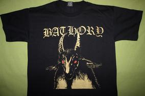 Gusanobass Playera Rock Metal Bathory Black Death L