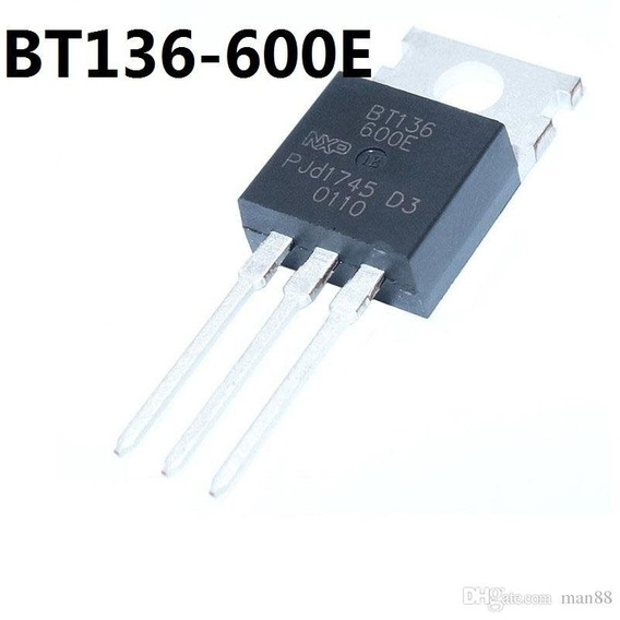 Transistor Bt136-600 - 50 Peças
