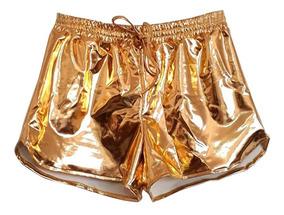 01e6fc5e3 Short Metalizado Prata - Shorts para Feminino com o Melhores Preços ...