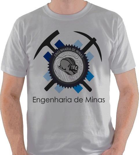 Camiseta Engenharia De Minas Curso Graduação Camisa Blusa