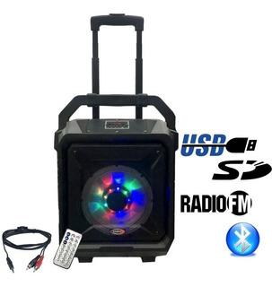 Bafle Portatil 8 15w Recargable Bluetooth Usb Sd Radio - Cuotas
