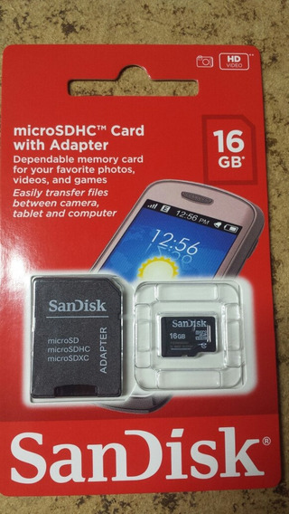 Cartão De Memória 16gb Microsd Sandisk - 5 Anos De Garantia