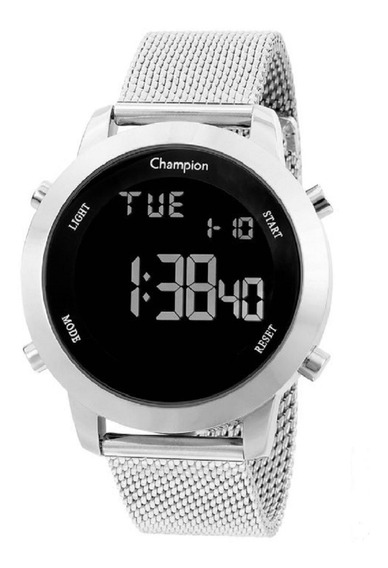 Relógio Champion Feminino Digital Ch40062t Prata Negativo