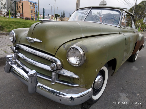 Vendo Antiguo 1950 Convertible Chevy Old Card