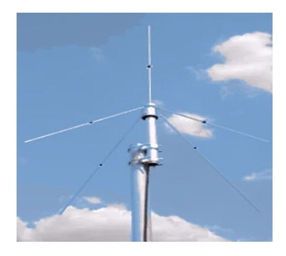 Antena Ajustável Plano Terra 1/4 0db Fm Radio Comunitária