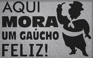 Tapete Capacho Divertido Gaúcho Feliz - Rio Grande Do Sul