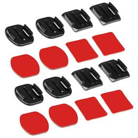 Base Apartamento Monte Curvo E Adesivo Stickers Para Gopro H