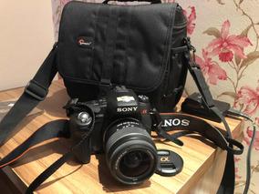 Camera Fotográfica Ou Filme Sony Alpha Dslr A580 Zerada Case