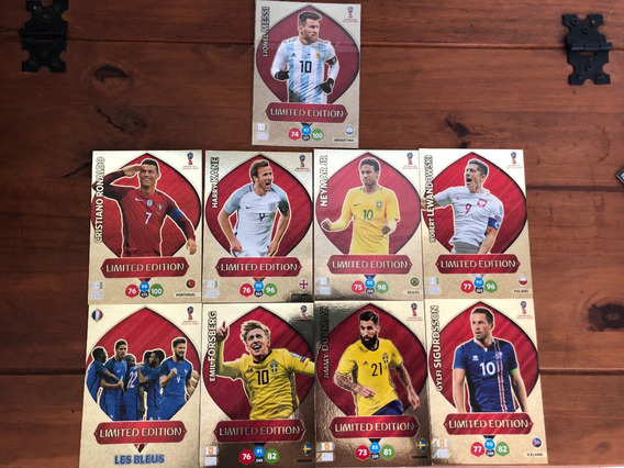 Lote 9 Cards Xxl Copa Russia 2018 Adrenalyn Limited Xxl