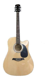 Guitarra Electroacústica Texas Adk-a14ce-n, Cuerda Metal