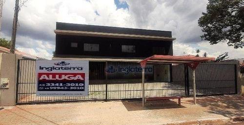Barracão Para Alugar, 480 M² Por R$ 5.900,00/mês - Califórnia - Londrina/pr - Ba0094
