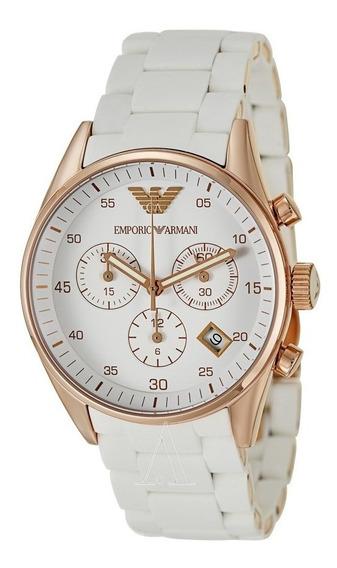 Reloj Emporio Armani Sport Acero Silicon Blanco Ar5920