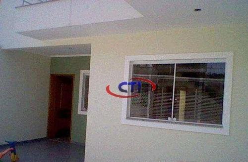 Imagem 1 de 25 de Sobrado Com 3 Dormitórios À Venda, Jardim Las Vegas - Santo André/sp - So0499