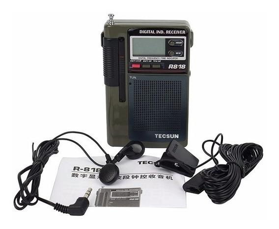 Rádio Tecsun R-818, Fm / Mw / Sw, Multi-banda