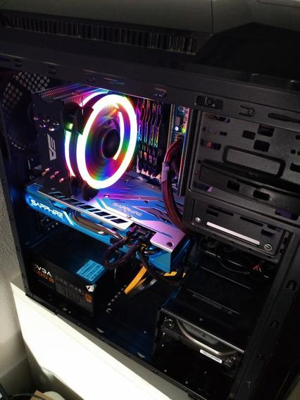 Pc Gamer Completo Rx 590 + Monitor 144hz + I7 3770 Full