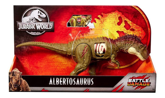 Dinosaurio Albertosaurios De Jurassic World Battle Damage