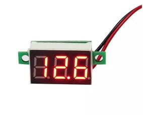 2 Mini Voltímetro Digital 0v~30v Carro Bateria Frete Barato