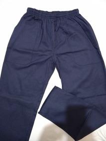 Calça Em Brim Para Uniforme Profissional Azul Marinho