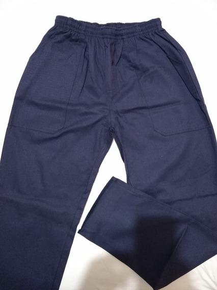 Calça Em Brim Pesado Para Uniforme Profissional Azul Marinho
