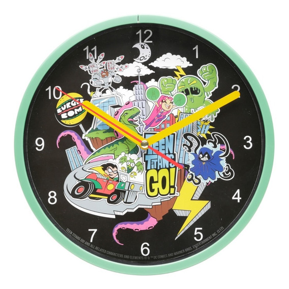 Relógio De Parede Plástico Wb Tt All Characters Colorido
