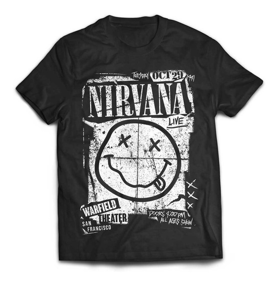 Camiseta Nirvana Concert Flyer Rock Activity