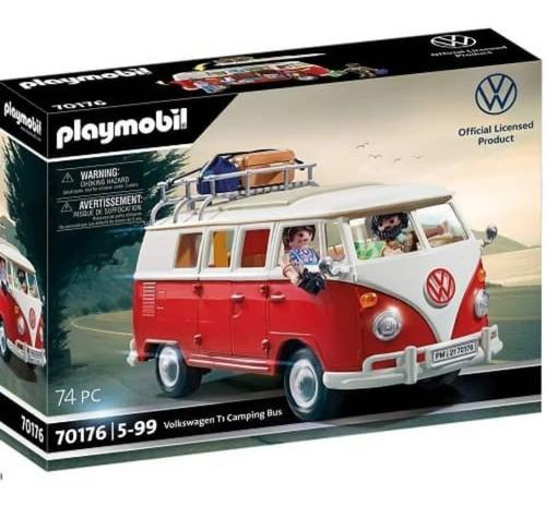 Imagen 1 de 7 de Playmobil 70176 Vehiculo Oficial Volkswagen T1 Caravana Full