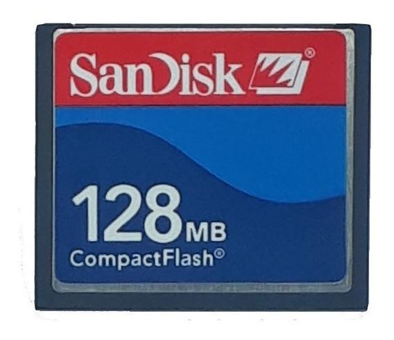 Cartão De Memória Compact Flash Cf Sandisk 128mb Frete Fixo