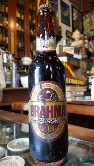 Antigua Botella Cerveza Brahma. Bock (llena). 28196