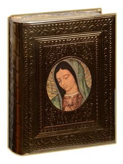 Biblia Latinoamericana Letra Grande En Repujado Virgen Busto