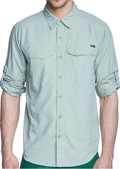Columbia Camisa Manga Larga Para Hombre Mod Silver Ridge