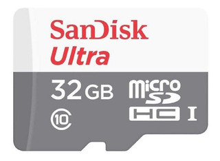Micro Sd 32gb Ultra C10 / Sdsquns-032g-gn3ma 80mb/s Sandisk