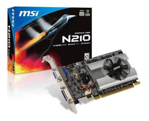 Imagen 1 de 2 de Tarjeta De Video Msi Nvidia Geforce 210, 1gb, Ddr3, 64-bit