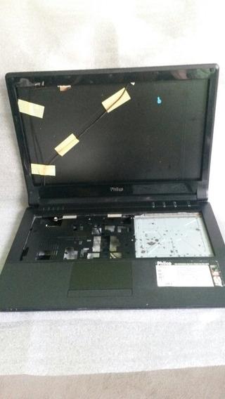 Carcaça Completa Notebook Philco 14d + Dobradiças + Gravador