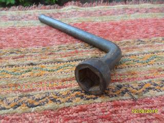 Antigua Llave Tubo Palanca Chica Auto Hierro Galvan D 19mm