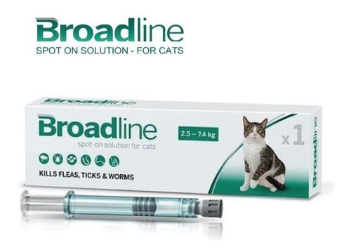Broadline Gato 2.5 - 7.5kg - Antiparasitario Interno Externo