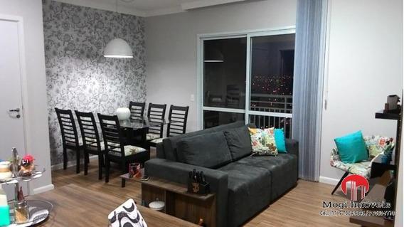 Apartamento Para Venda Em Mogi Das Cruzes, Parque Santana, 3 Dormitórios, 1 Suíte, 3 Banheiros, 2 Vagas - Ap298