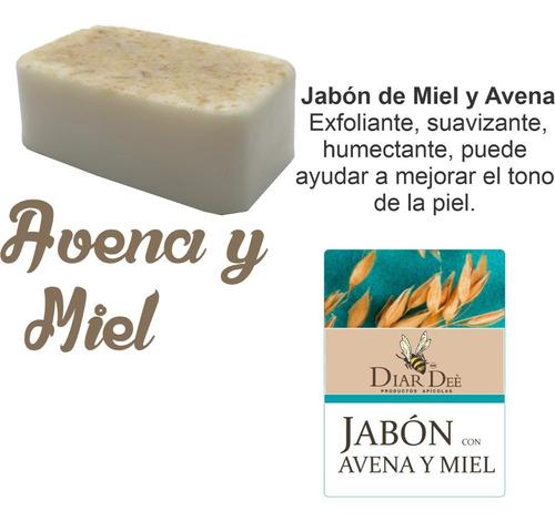 Imagen 1 de 3 de Jabón Avena- Miel Diar 1 Pieza 140 G. Natural Biodegradable