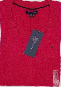 Sweater Tommy Hilfiger Gola Redonda Feminino - Original