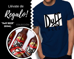Playeras Hombre Duff Beer + Botella De Coleccion De Regalo