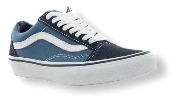 Zapatillas Vans Old Skool Azul/celes/bla Unisex Rcmdr