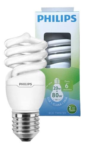 Lampada Eletrônica Mini Esp. 20w 6000h Branca 127v Philips