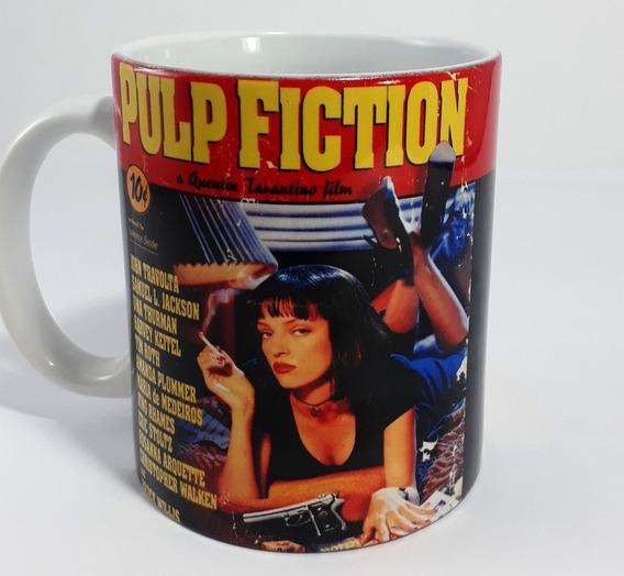 Caneca Pulp Fiction Porcelana Interior Branco
