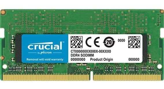 Memoria Crucial Sodimm Ddr4 8gb 2400mhz 1.2v Ct8g4sfs824a