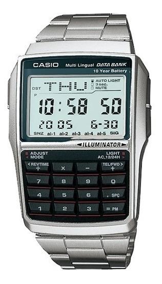 Reloj Casio Calculadora Dbc32 Data Bank Extensible Acero