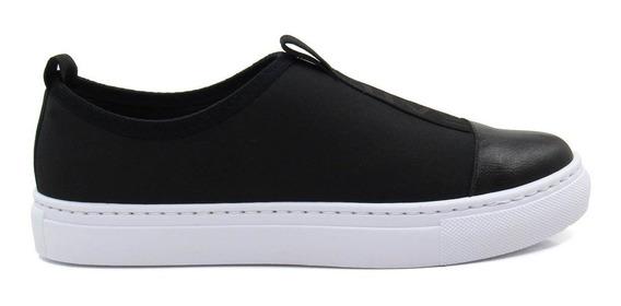 Tênis Slip On Feminino Olfer Shoes 1272-013 Neoprene