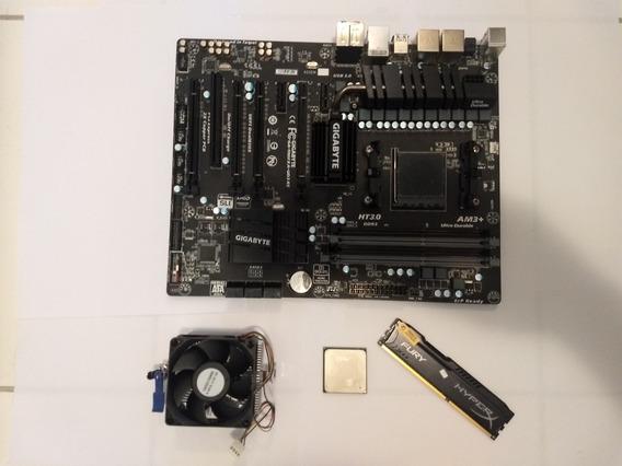 Placa + Processador + Mem 8gb Gigabyte- Ga-990fxa-ud3 R5